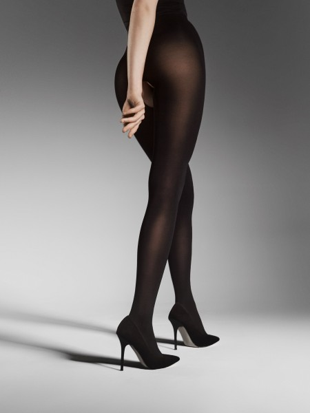 Fiore Ouvert 80 - Opaque tights with open crotch