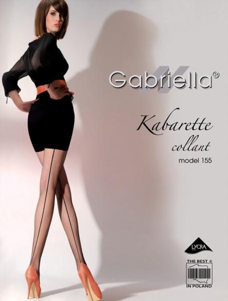 Gabriella - Back seam fishnet tights Kabarette 155